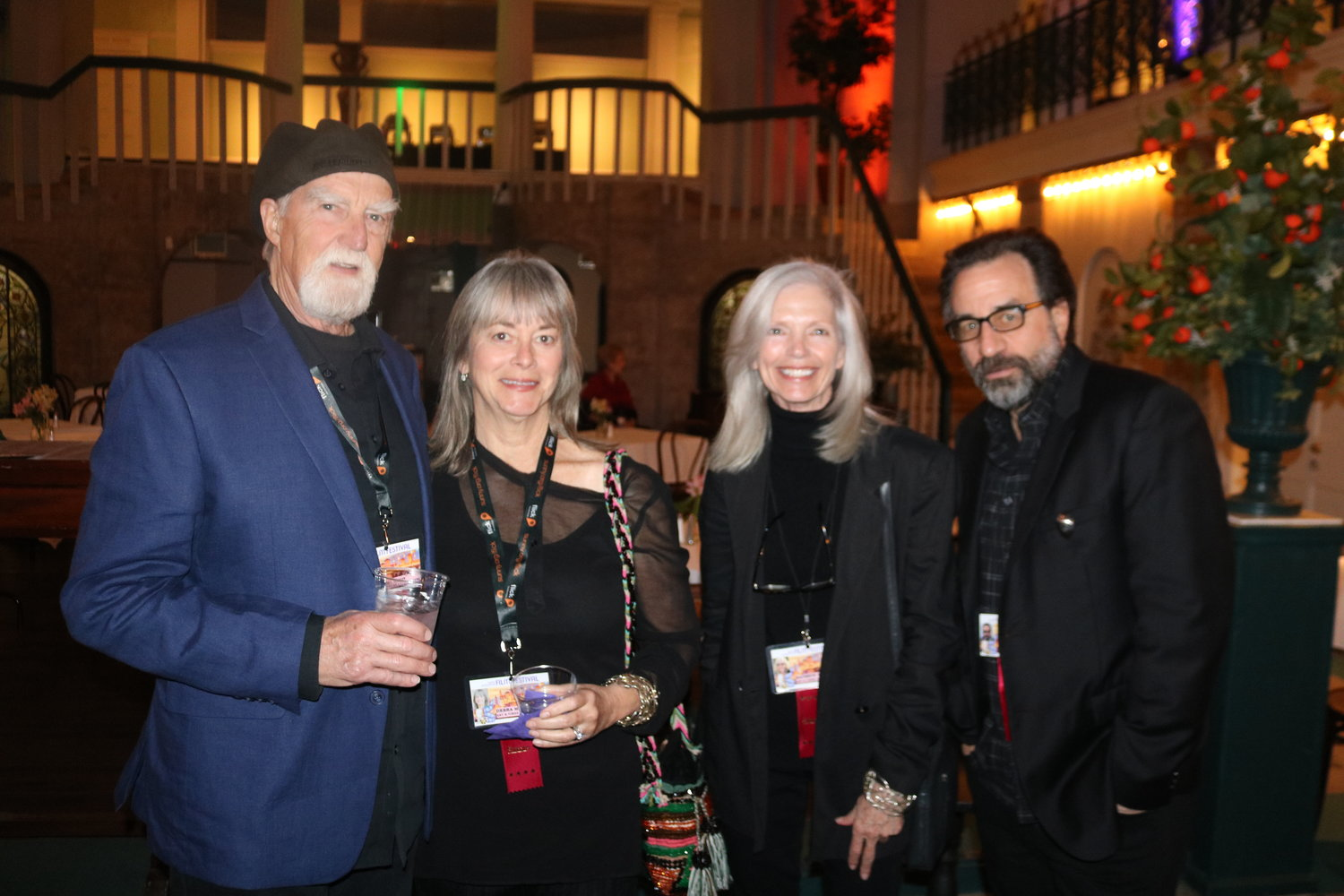 Artist and sculptor Frosty Myers, wife and producer Debra Myers, actress and producer Kathryn Witt and actor and writer, Ray Abruzzo