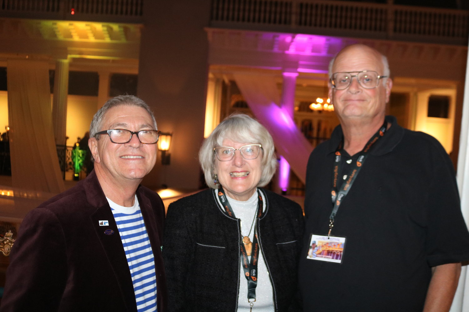 Gregory von Hausch, the CEO of the Saint Augustine Film Festival and the Fort Lauderdale International Film Festival, stands with Cathie and Allen Altman of St. Augustine, longtime patrons and sponsors of the St. Augustine Film Festival