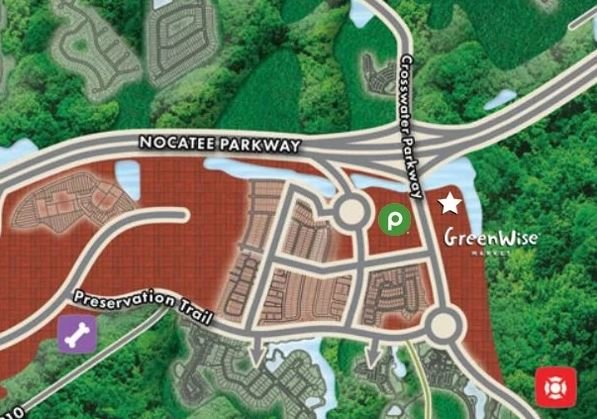 The new shopping center will be an extension of the current Town Center and will be located east of Crosswater Parkway and south of Nocatee Parkway.
