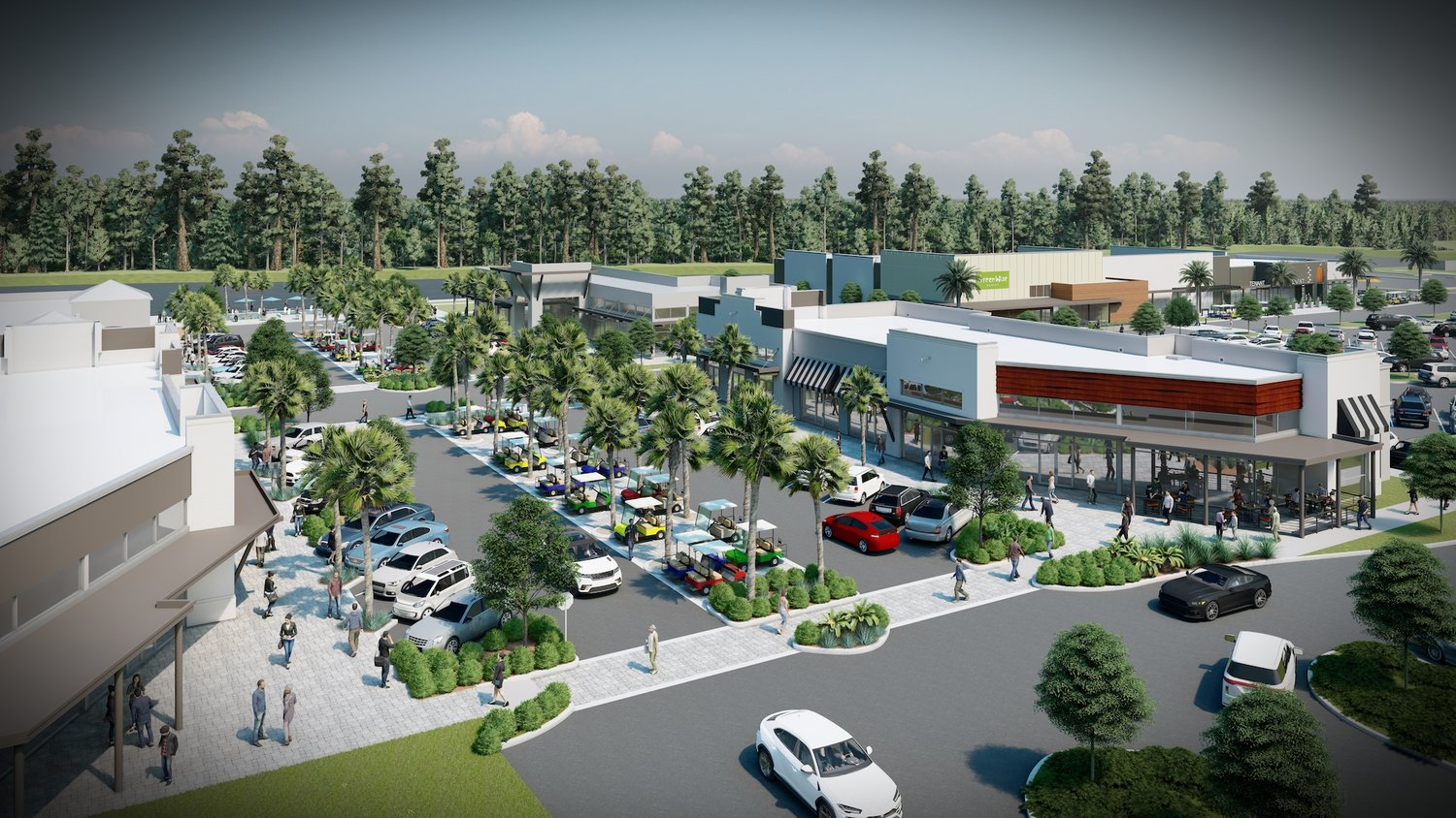 A rendering shows the plans for the new Nocatee Town Center expansion that will be anchored by a GreenWise Market.