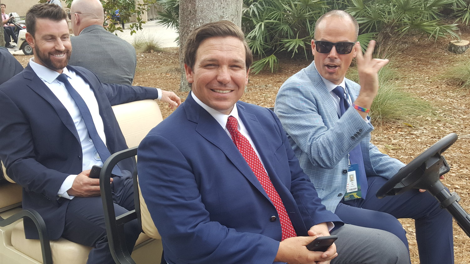 Gov. Ron DeSantis visits THE PLAYERS on Wednesday.