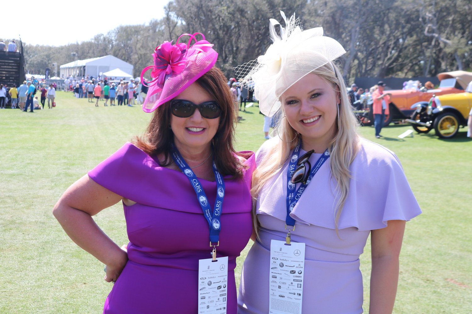 Anne Denford and Gabrielle Denford enjoy the Concours.