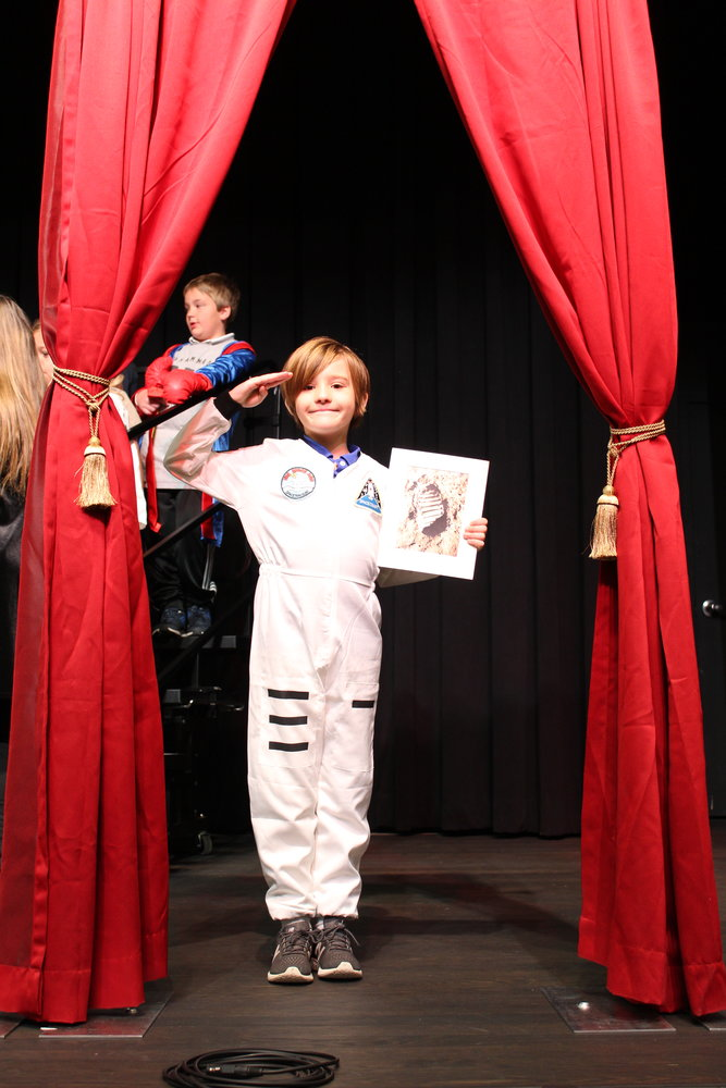 Second-grade students at the Bolles Lower School Ponte Vedra Beach Campus present a wax museum on March 7.