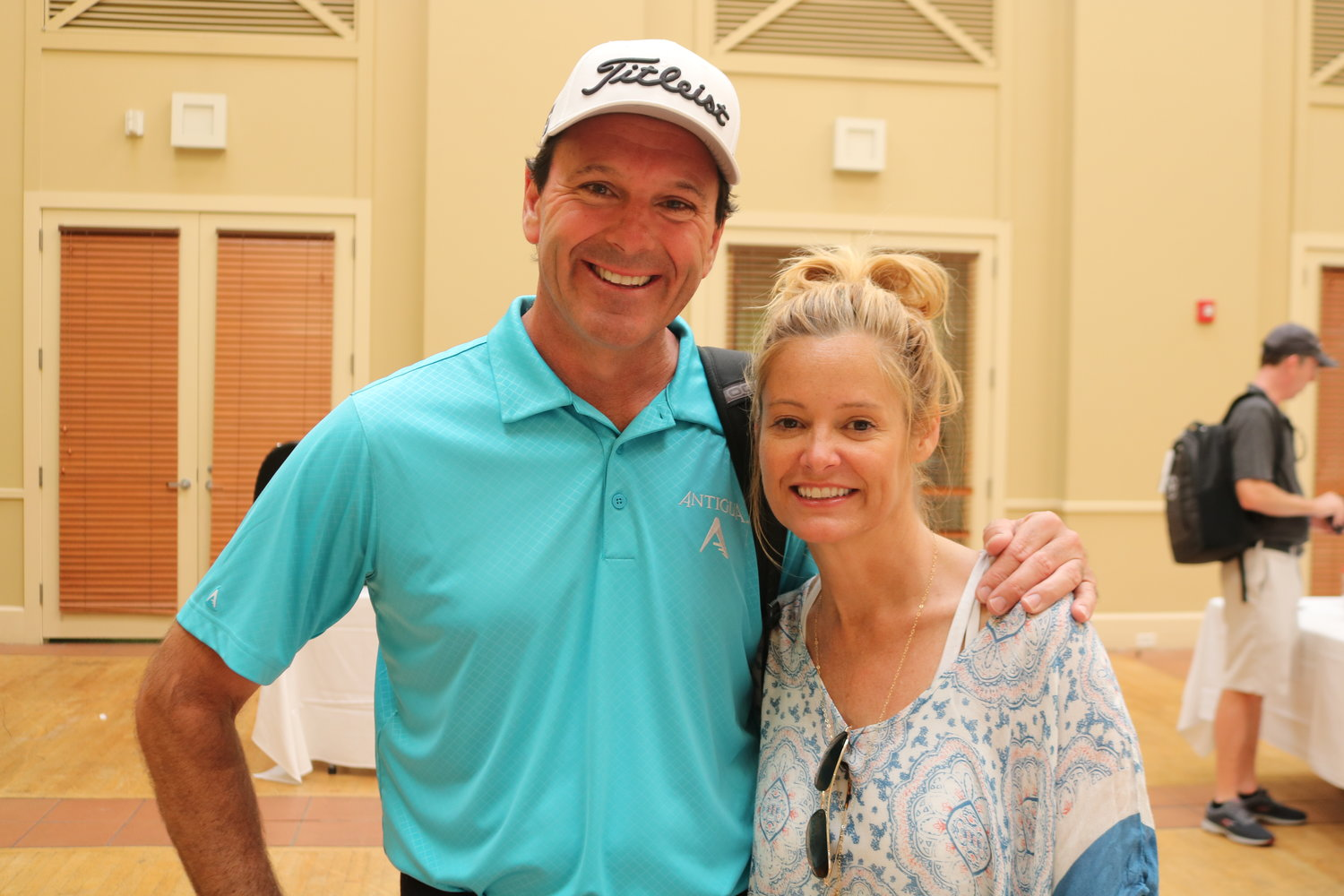 Len Mattiace and Tabitha Furyk at the golf tournament at Sawgrass Country Club