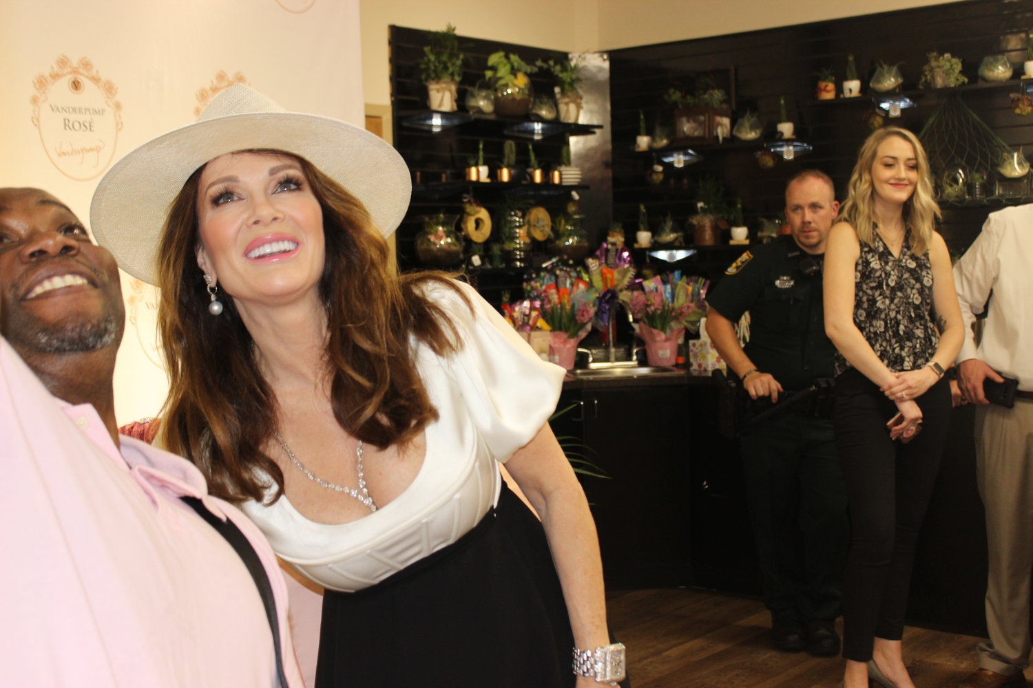 Vanderpump takes a selfie with a fan at the Ponte Vedra Beach event.