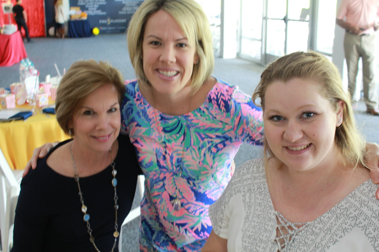 Susan Kane and Sarah Carletta gather with expectant mom Tawny Gileno at Operation Shower on March 10 at TPC Sawgrass.