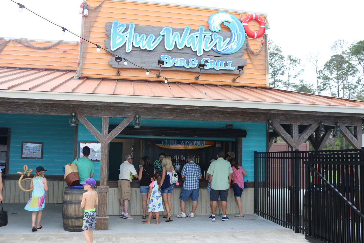 Blue Water Bar & Grill serves both food and drinks at the Spray Water Park.