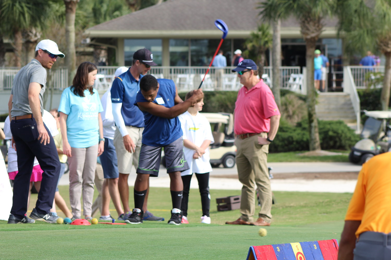 "Children with special needs, or ""VIPs,"" enjoy participating in the Tesori Family Foundation's All-Star Kids Clinic."