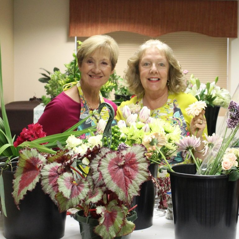 "The Sisterhood of the Traveling Plants — comprised of Cathy Snyder and Marilyn Smith — present ""Springtime at Downton"" on Friday, March 29, at the Ponte Vedra Beach Branch Library."
