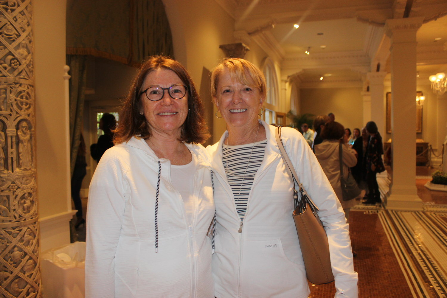 "Linda Thompson and Jo Thompson enjoy the ""After Hours"" event at the Lightner Museum on March 28."