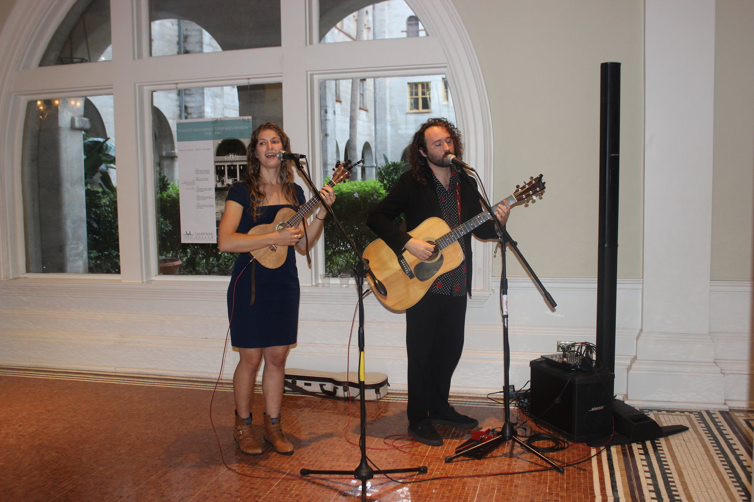 St. Augustine duo The Willowwacks entertain those in attendance.