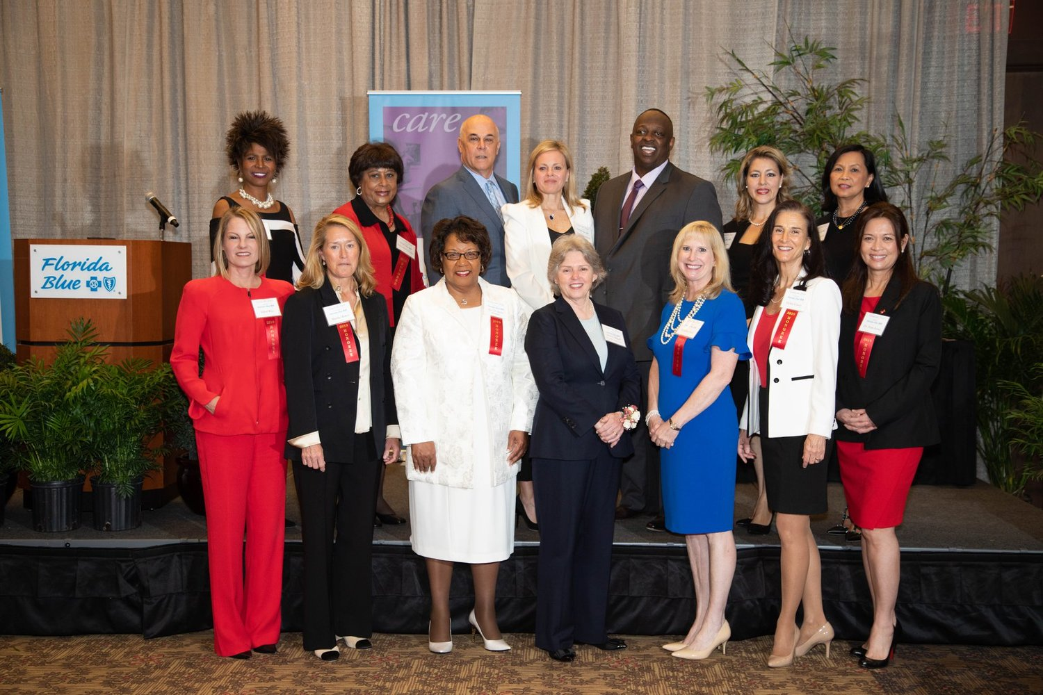 The 2019 Women with Heart honorees gather at the luncheon on Feb. 6 at the Florida Blue Conference Center in Jacksonville.