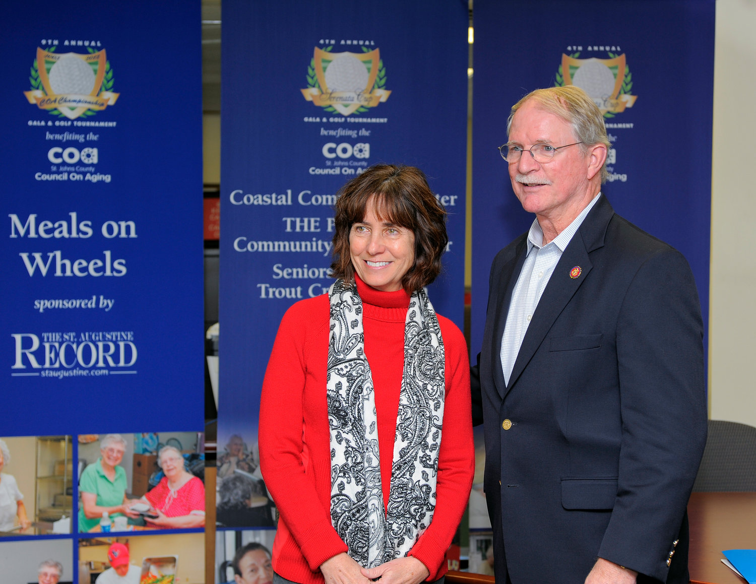St. Johns County Council on Aging Executive Director Becky Yanni and Congressman John Rutherford gather during a recent visit by Rutherford to COA in March.