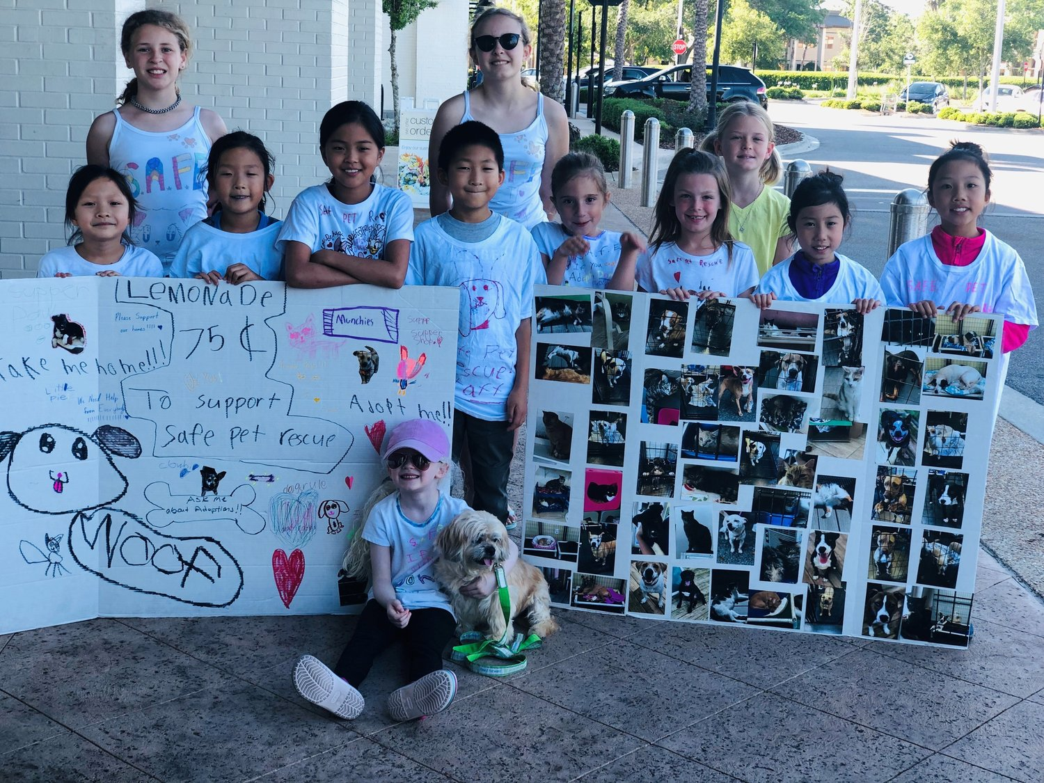 PVPV/Rawlings Elementary School students hold a lemonade stand at Publix in Sawgrass Village to raise money and awareness for S.A.F.E. Pet Rescue in St. Augustine.