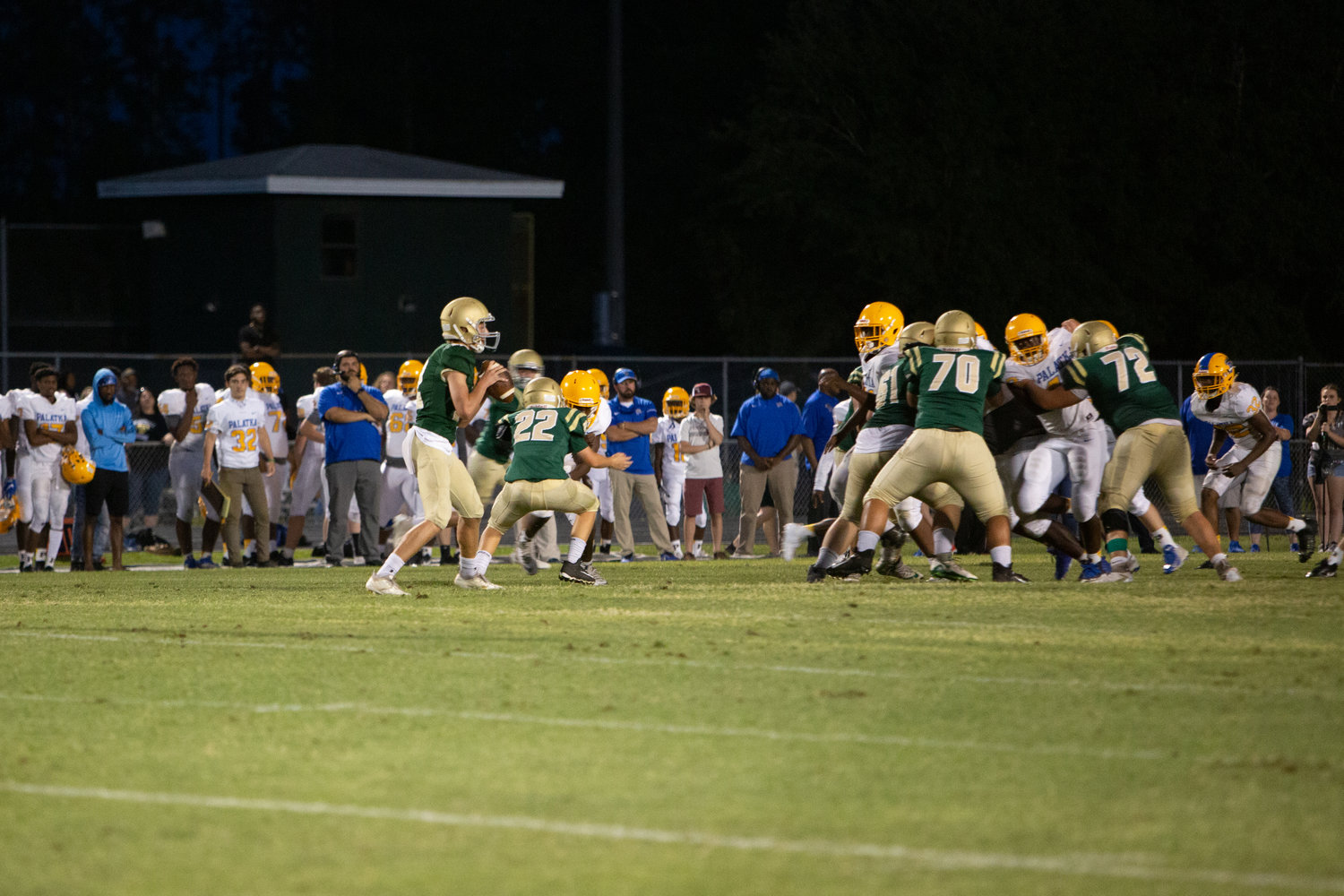 Nease moves the ball upfield against Palatka in their 48-35 win in the spring game on Friday.