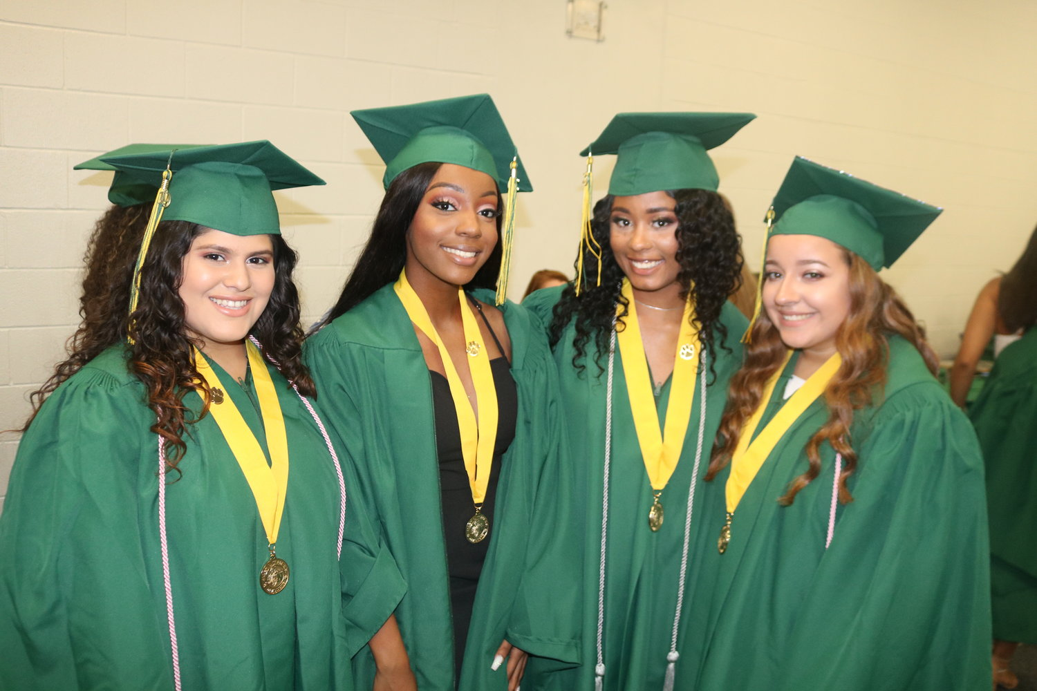 Veronica Lopez, Shakeria Turner, Alexus Wilson and Carrie Rivera