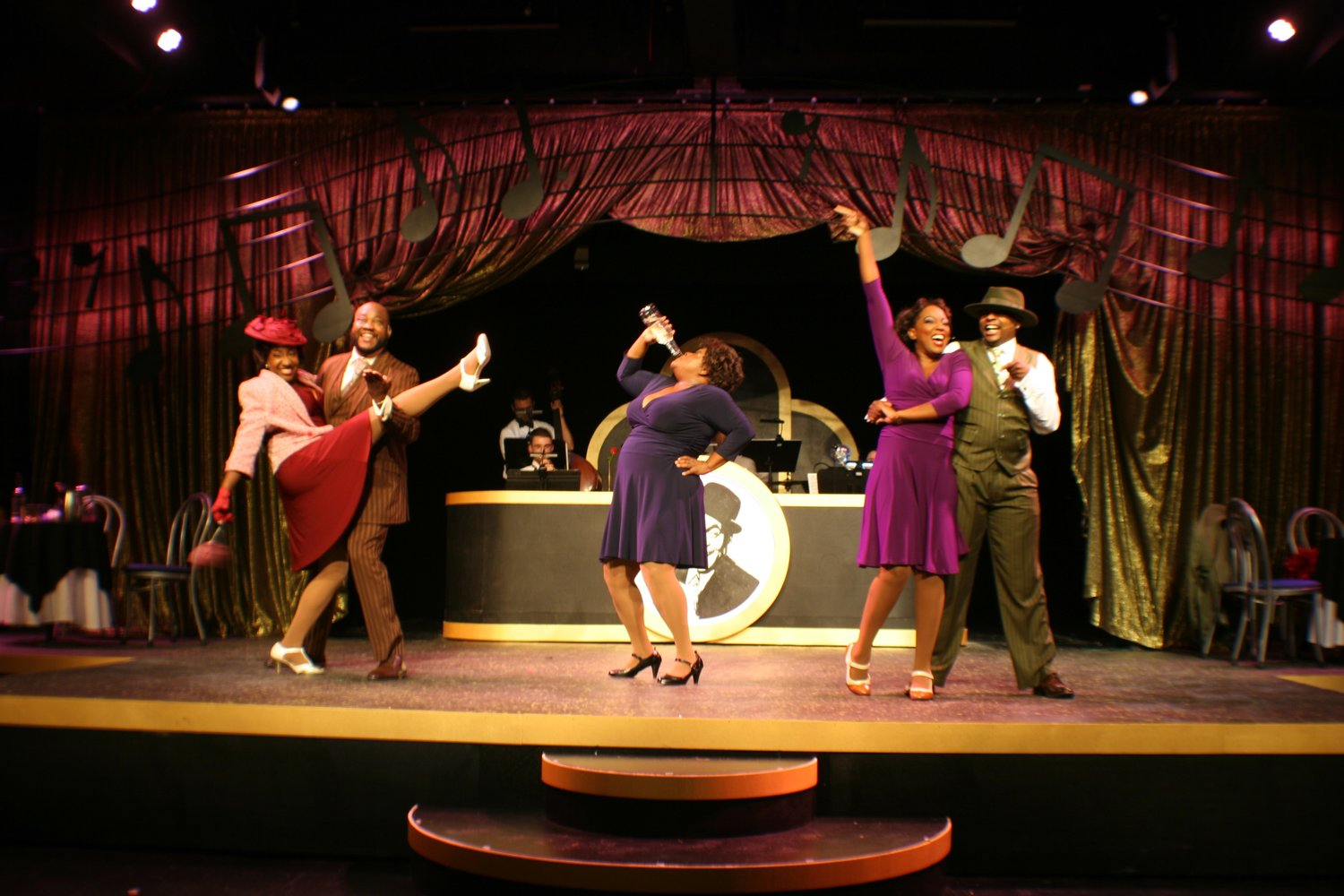 "The cast of ""Ain't Misbehavin'"" perform a scene from the award-winning musical at Alhambra Theatre & Dining."