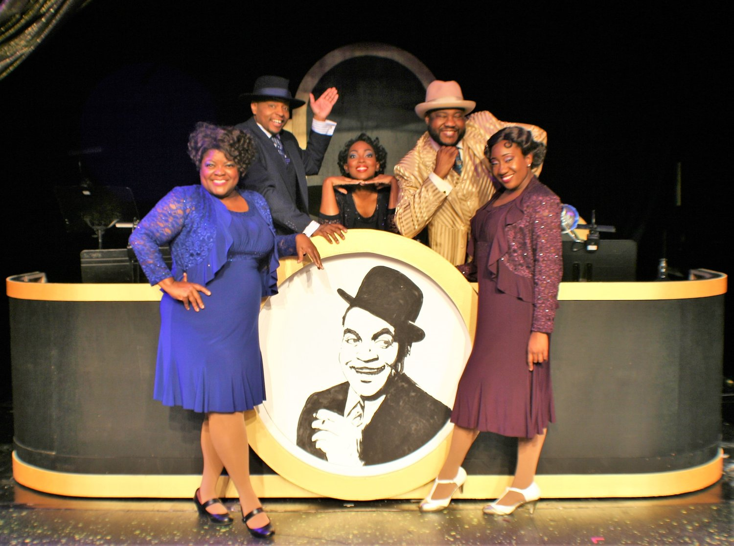 "Christopher G. Patterson, Cherry Hamlin, E. Mani Cadet and Amitria Fanae star in Alhambra's production of ""Ain't Misbehavin.'"""