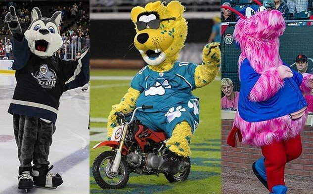 Fang from the Icemen, Jaxson de Ville from the Jaguars and Shrimp Scampi from the Jumbo Shrimp will be running the 1-mile race on June 15.