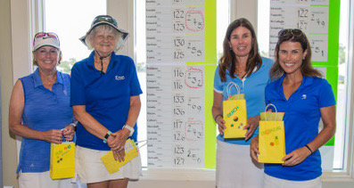 PLGA Member-Guest Salt Shakers Flight winners Molly Feldman (from left), Adrienne Simmons, Angela Rowe and Bev Cooper.