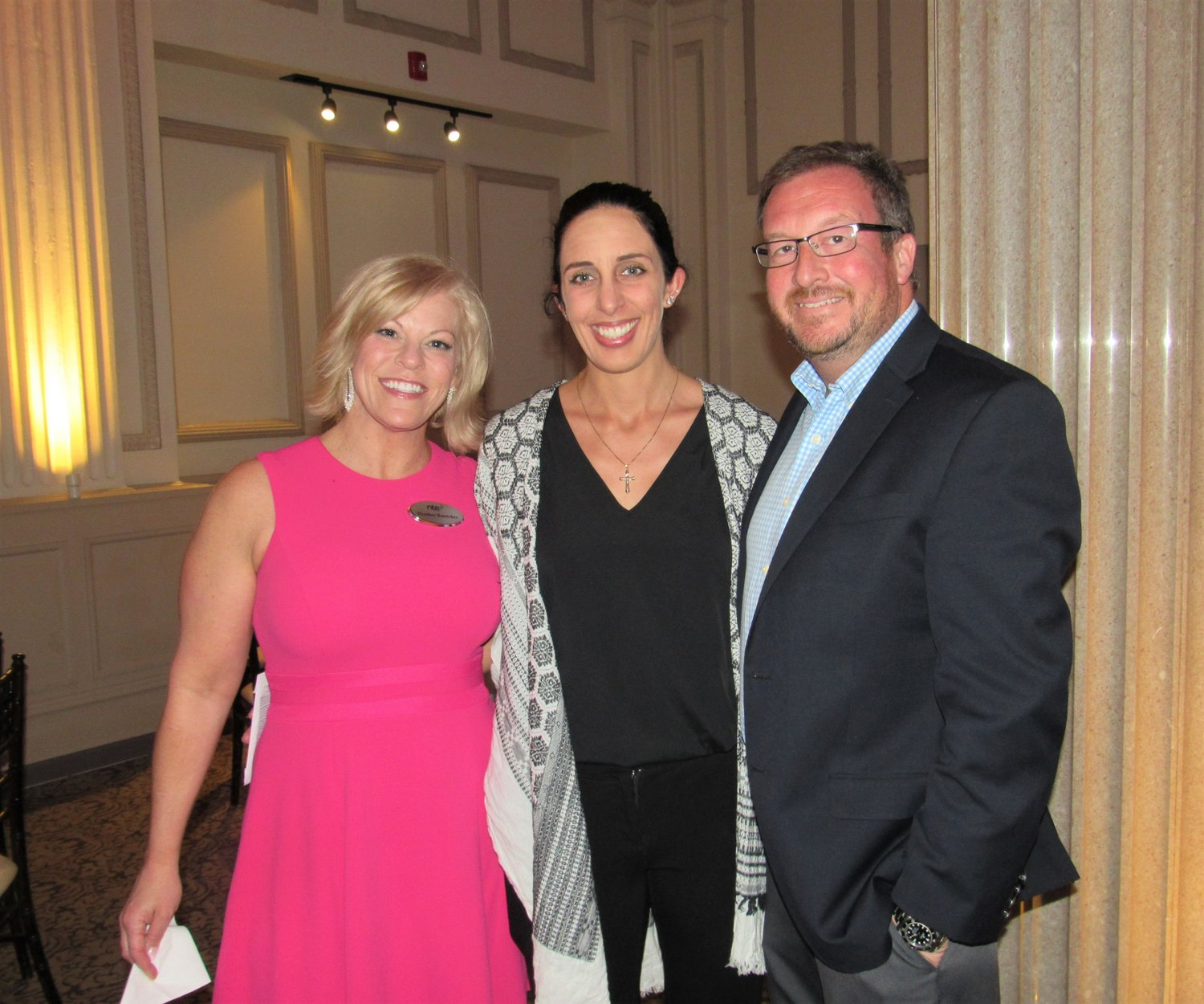 Heather Boettcher, Brandy Boulette and NTE Energy CEO Seth Shortlidge gather at the company's 10th anniversary celebration April 22 at The Treasury in St. Augustine.