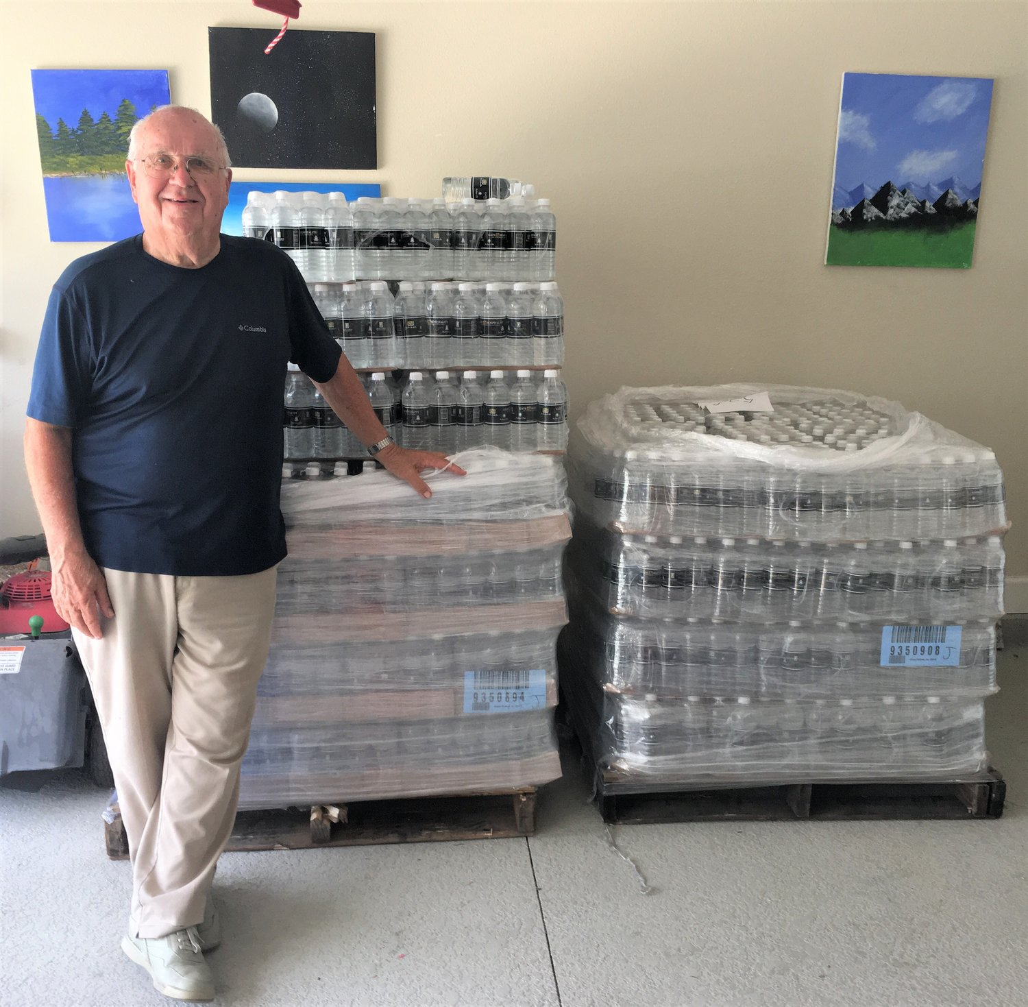 Gate Hospitality donated 8,000 bottles of water to Ray George.