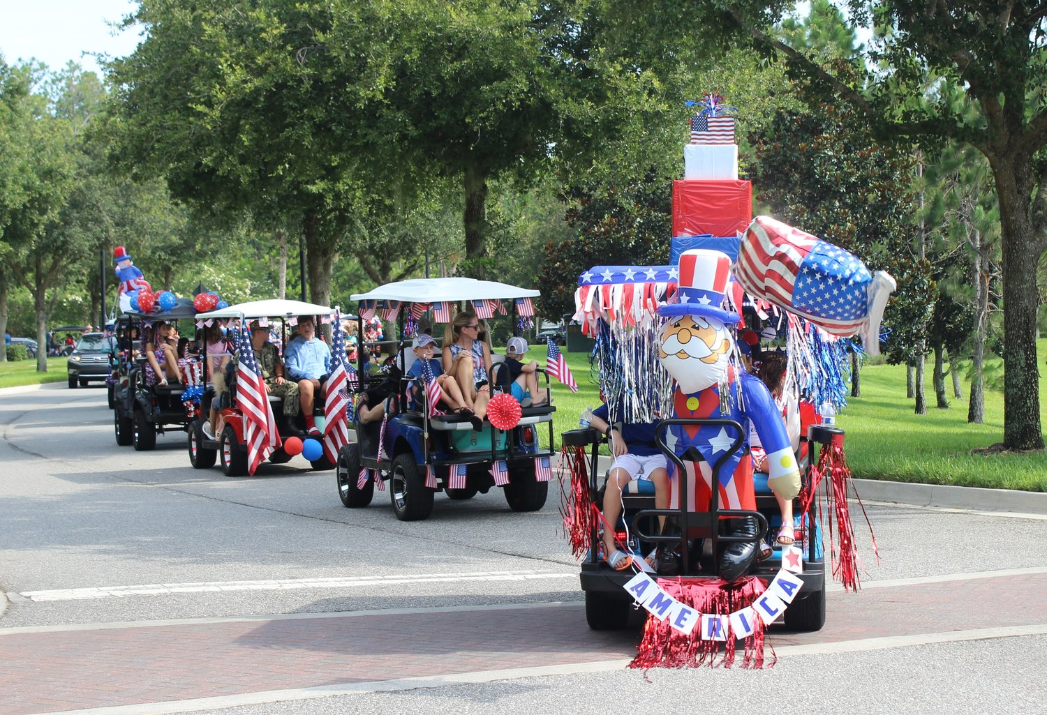 Nocatee celebrates Independence Day with golf cart parade