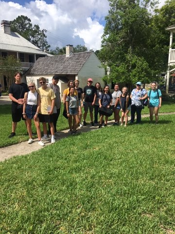 Ximenez-Fatio House hosted a group of high school students participating in a Flagler College and Florida Humanities Council summer program on June 18.
