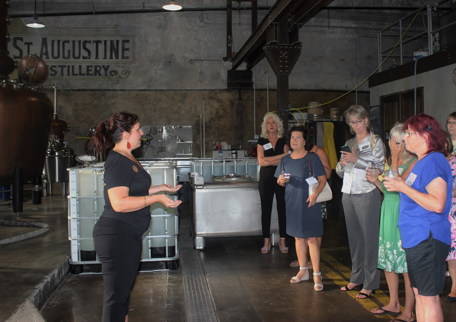 The Women's Food Alliance made a visit to the St. Augustine Distillery on June 24 for a private tour and dinner catered by 4Rivers Smokehouse.