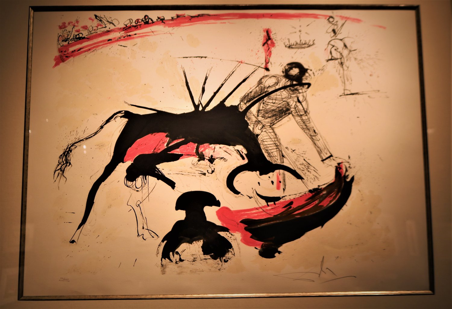 "Salvador Dali has multiple sketches and paintings involving the Spanish tradition of bullfighting as an ode to Pablo Picasso, who admired the ""sport."""