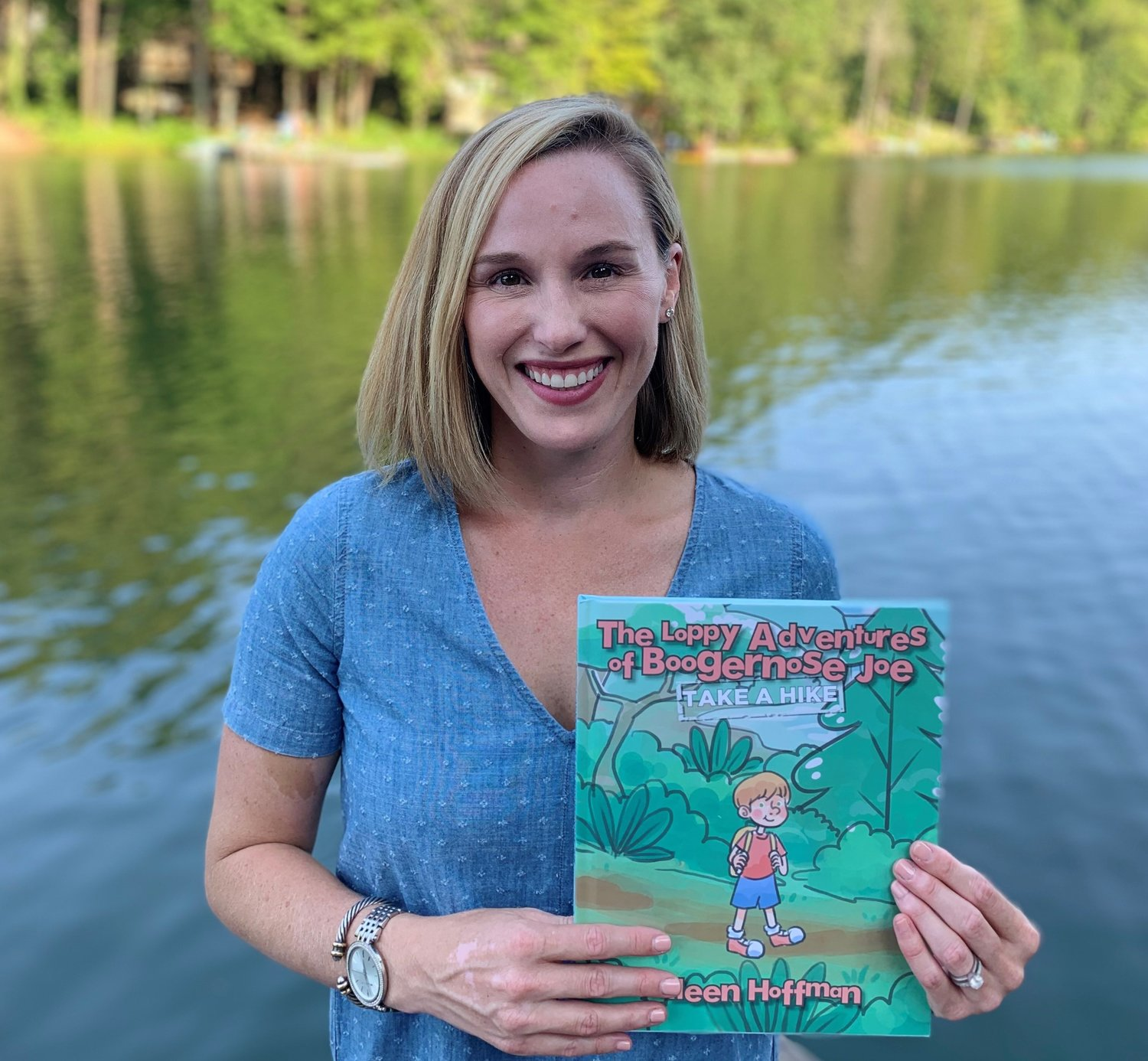 "Local author Colleen Hoffman's has published a children's series titled ""The Loppy Adventures of Boogernose Joe."""