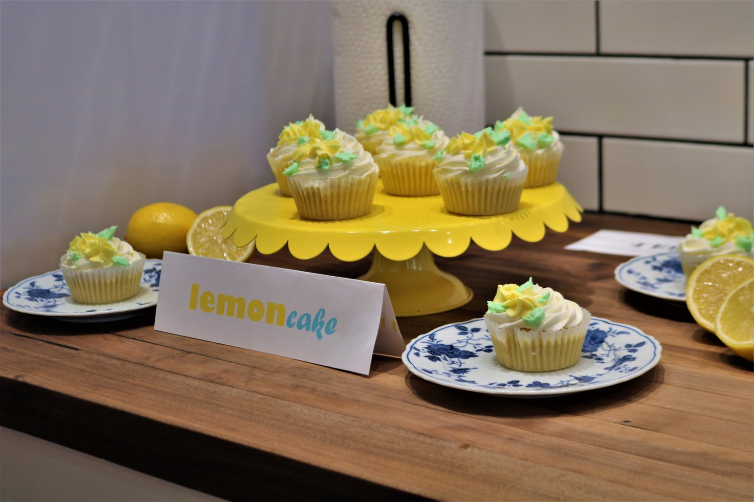 Elizabeth Vincent's delicate and vintage display of Lemon Cake cupcakes earned the second runner-up spot in the cupcake contest.