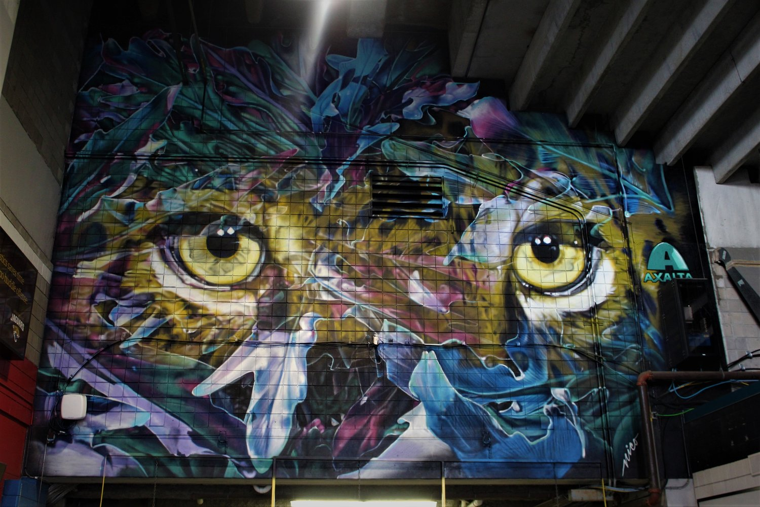 "It took nine days for Nicole ""Nico"" Holderbaum and her assistant to complete the new Jacksonville Jaguars mural for the 2019 season."