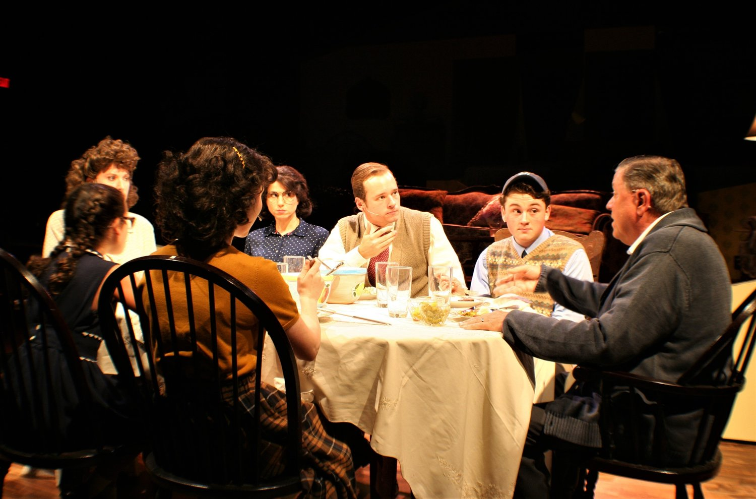 "The cast of ""Brighton Beach Memoirs"" perform during the play at Alhambra Theatre & Dining."