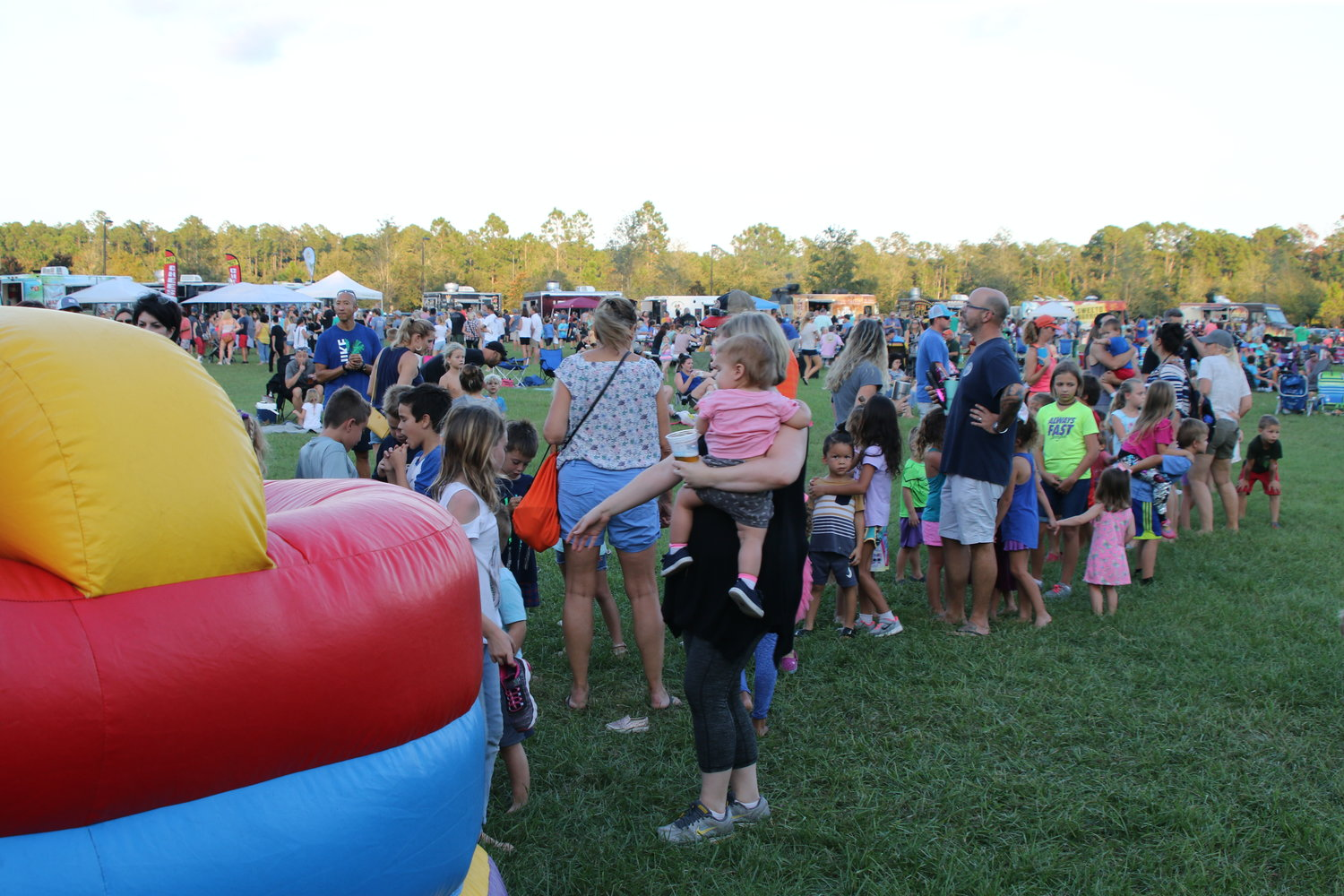 The bounce houses were popular with kids at the Sept. 27 Food Truck Friday.
