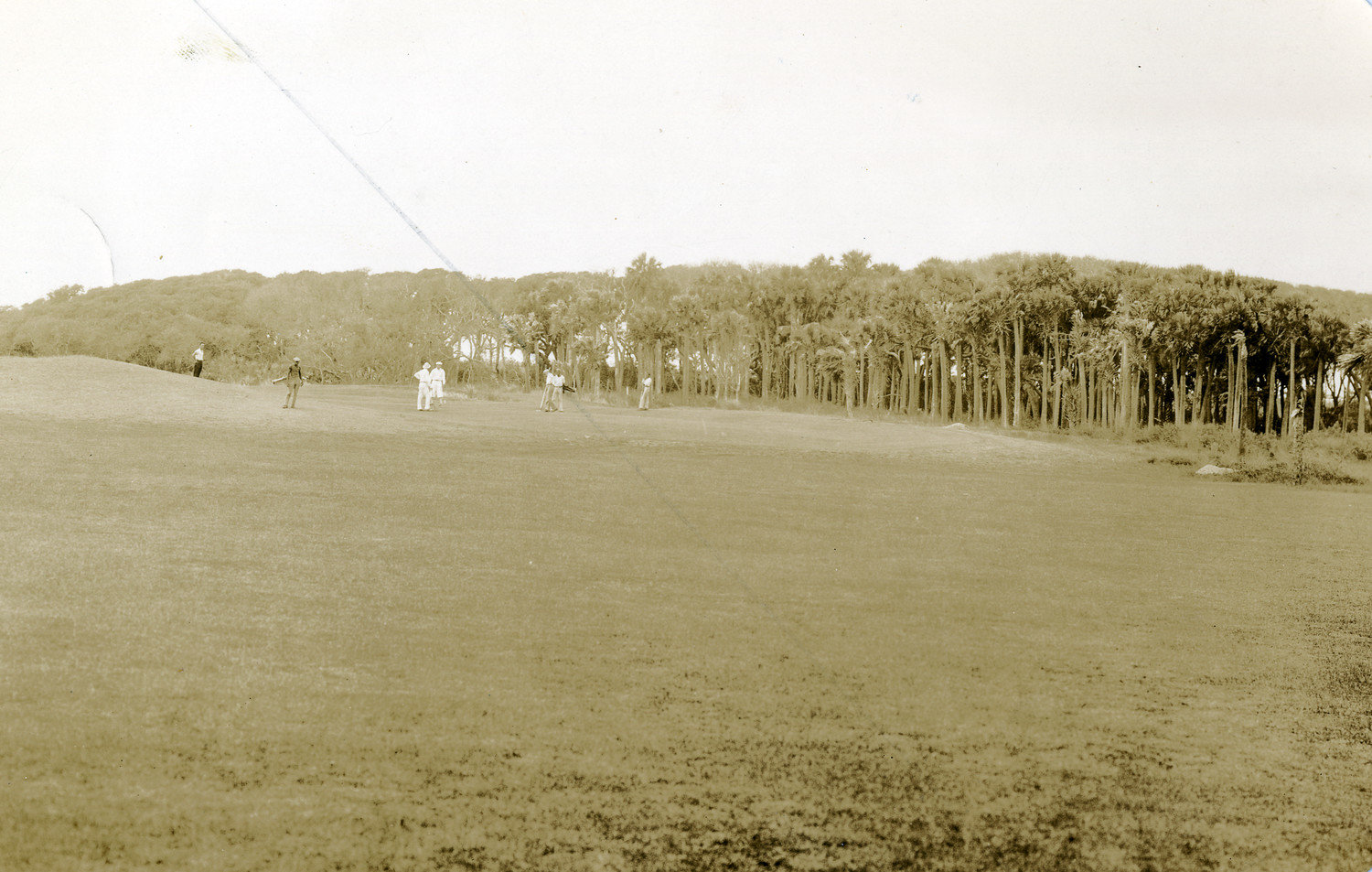 Golfers play on the 15th fairway of the Jacksonville Beach Golf Links course (later to become the Ponte Vedra Inn & Club.