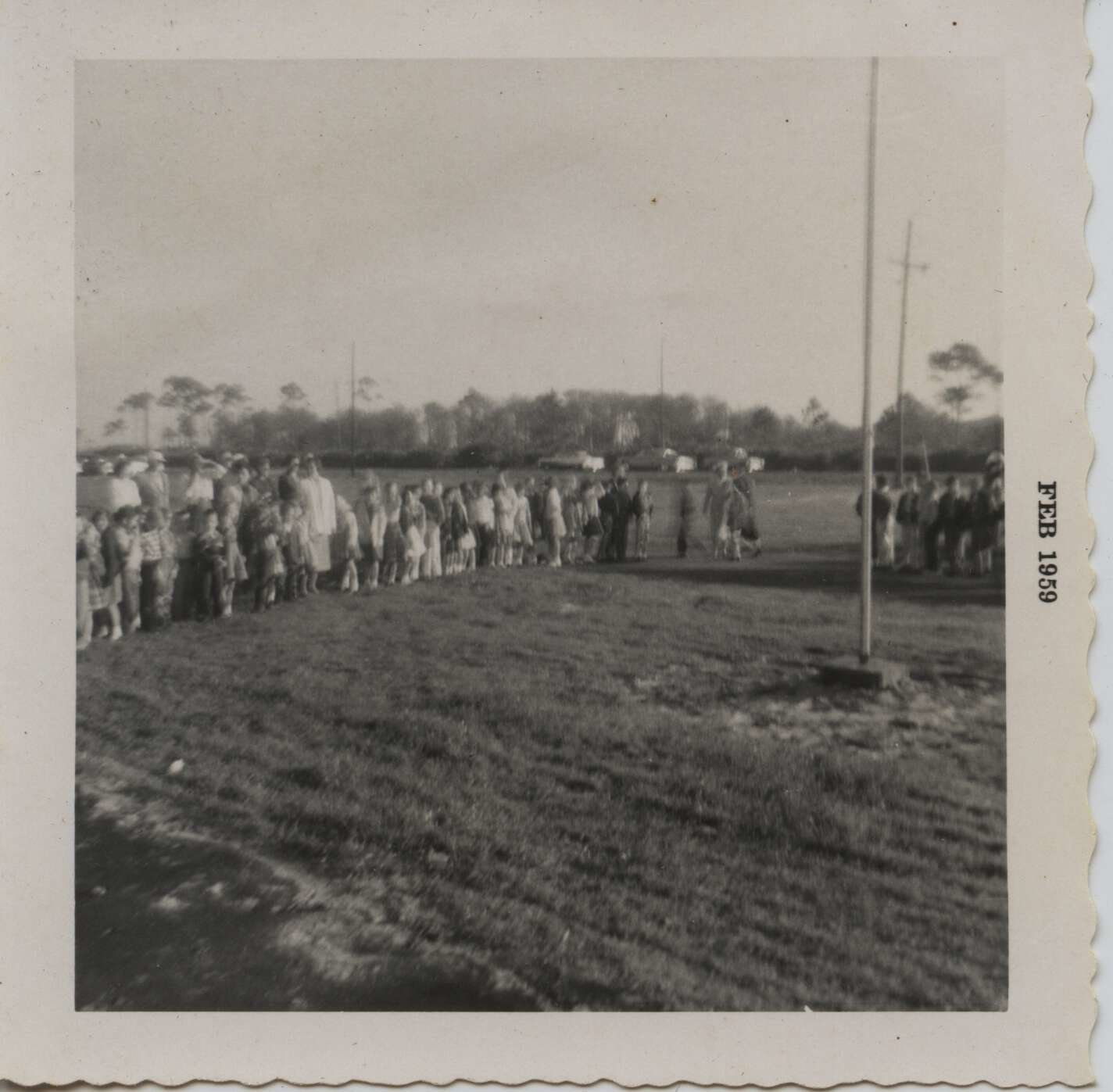 1959 flag ceremony official