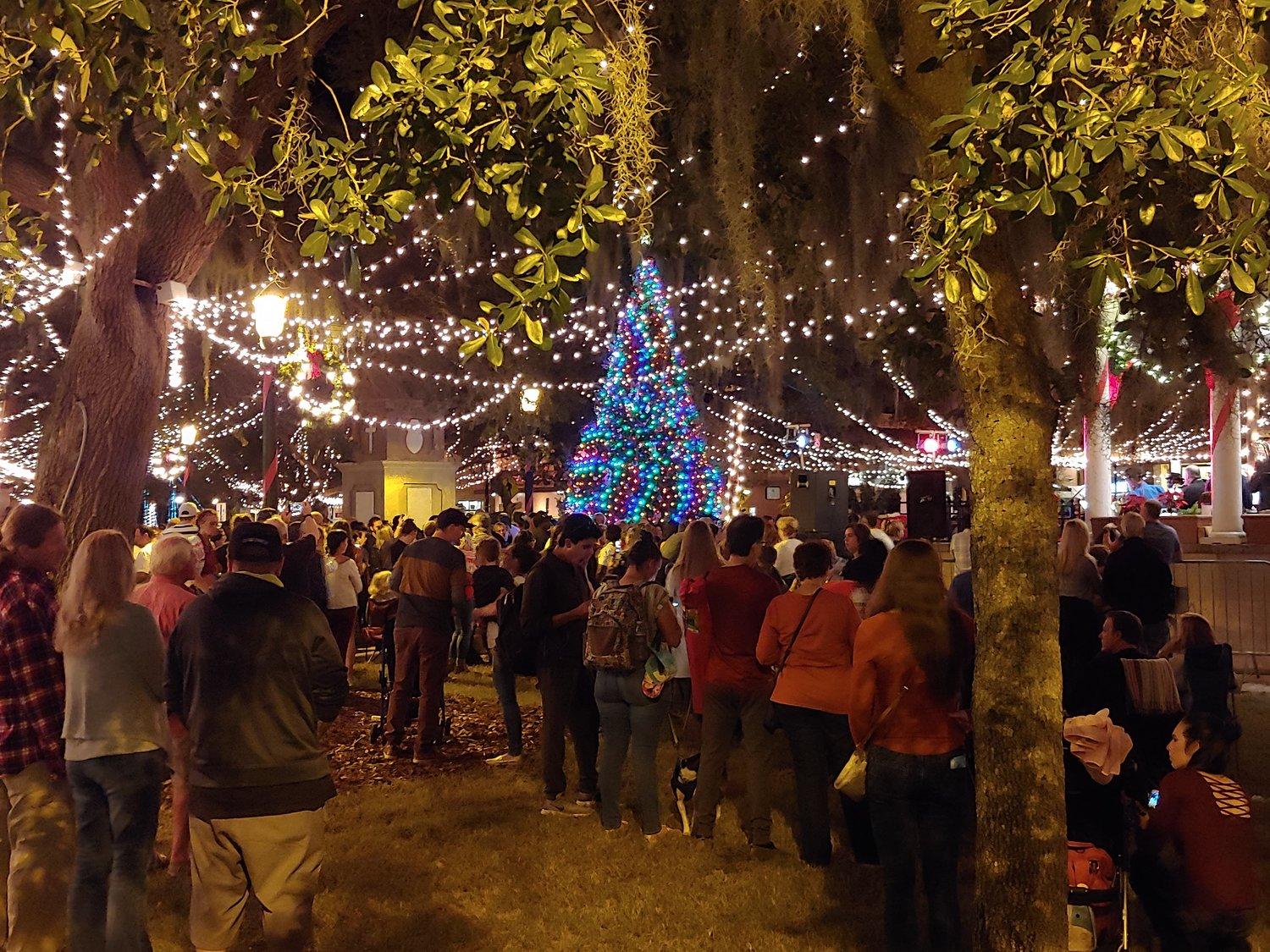 1.	Historic downtown St. Augustine hosted its annual Light of Nights ceremony, Nov. 23, at the Plaza de la Constitución.