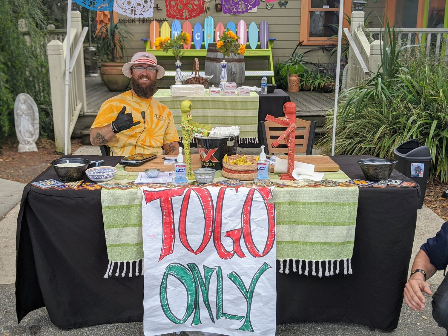 TacoLu is currently offering curbside pick-up and to-go orders while offering free meals for industry workers within the community.