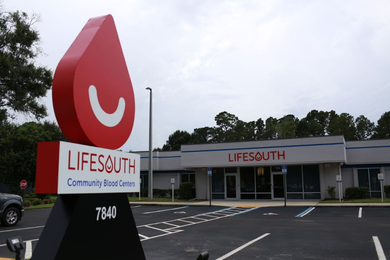 LifeSouth Community Blood Center Distribution Office is located at 7840 Baymeadows Way in Jacksonville.