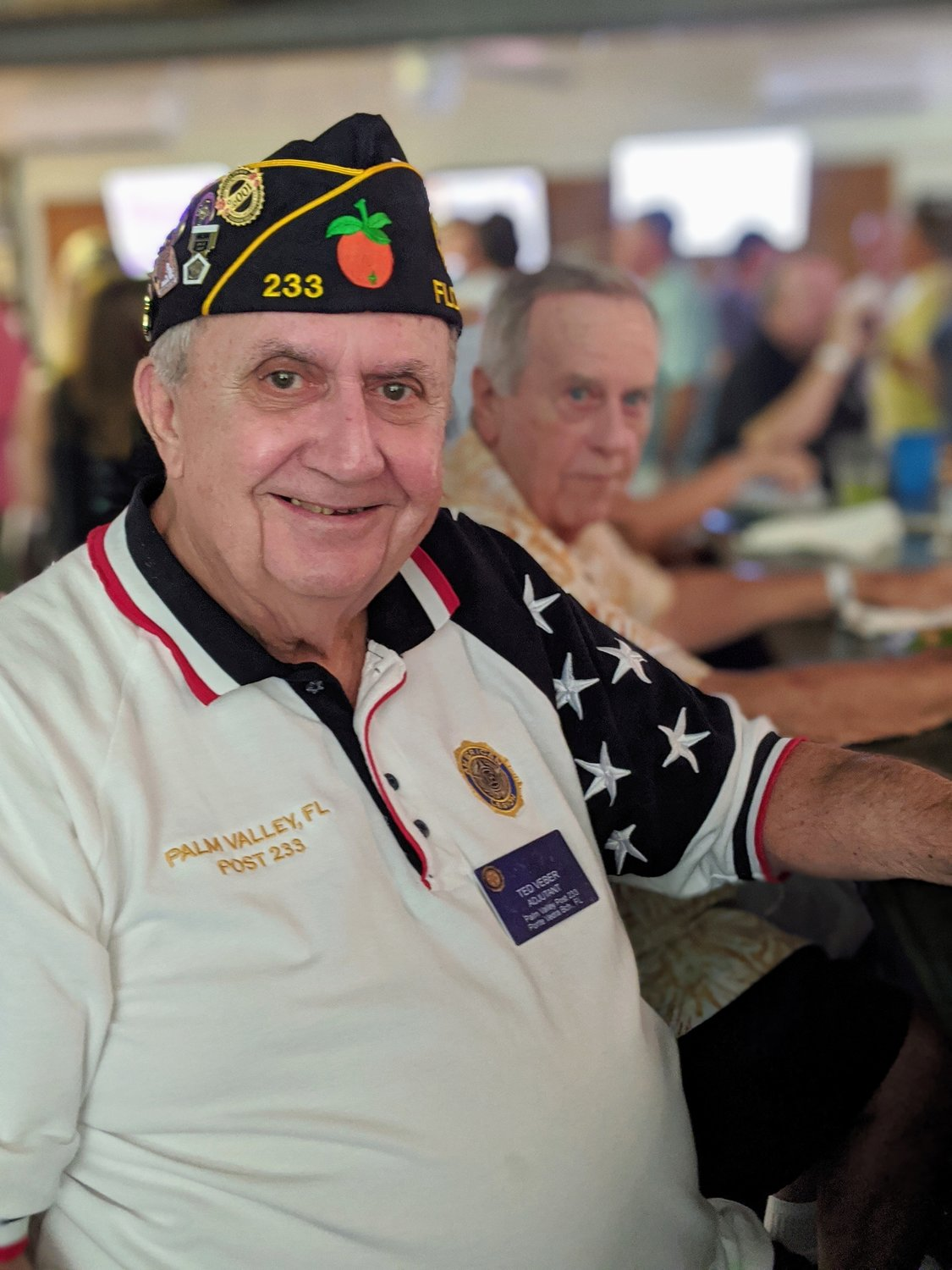 Palm Valley Adjutant, Ted Veber, attends the V for Veterans fundraising event.