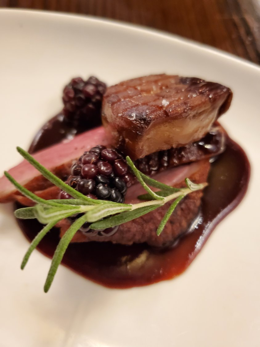 Duck breast and foie gras