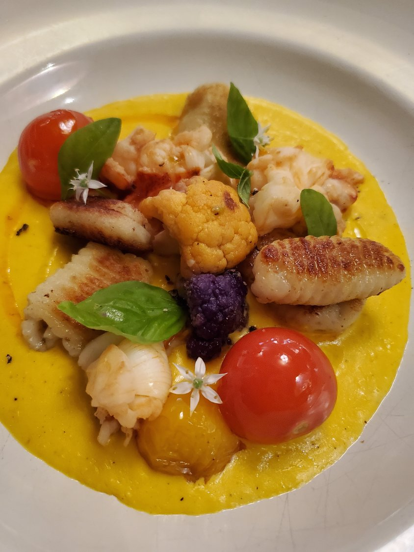 Lobster and gnocchi