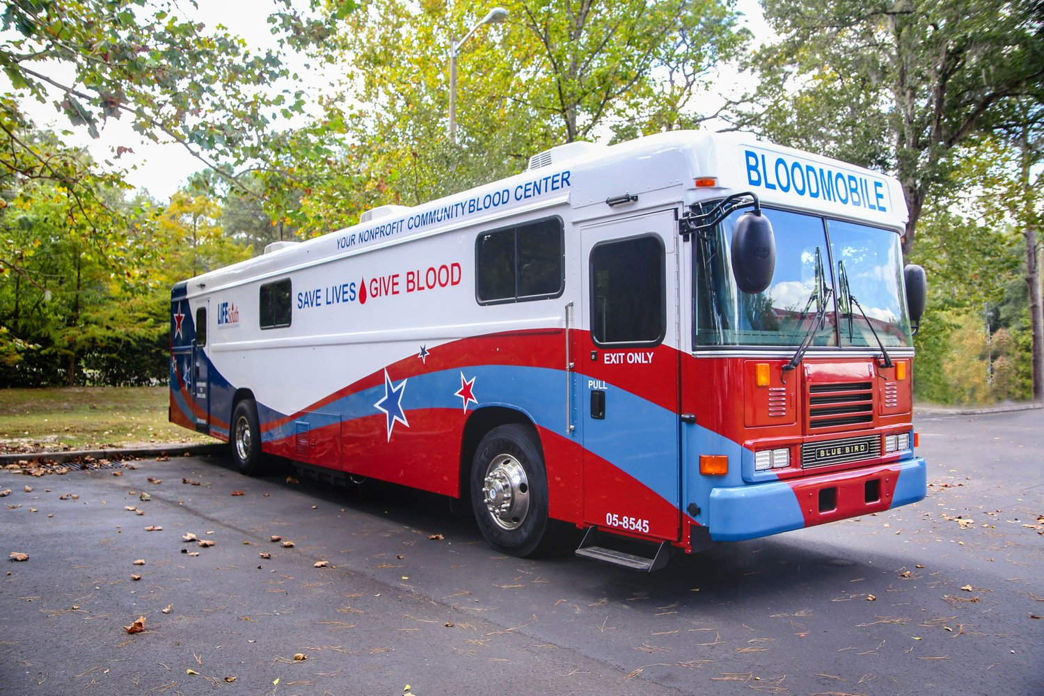 LifeSouth has a donation center in Jacksonville but travels around the city with their mobile blood bus to collect from donors across the area.