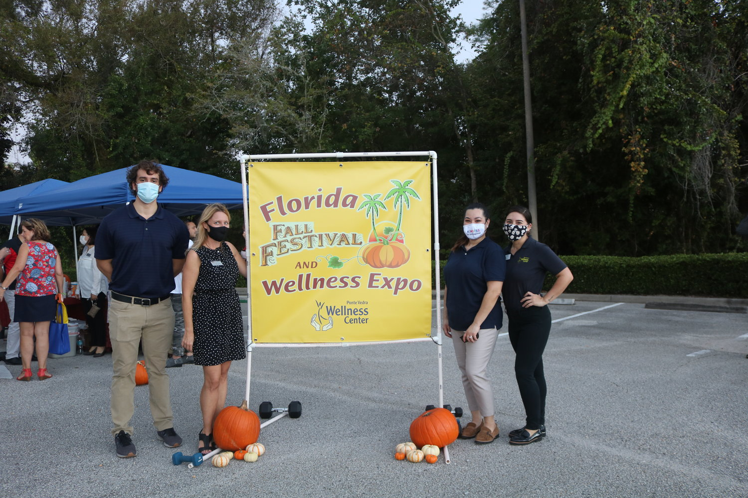 Ponte Vedra Wellness Center staff members Marcelo Sacedo (from left), owner Dr. Erika Hamer, Lisa Tromsdorff and Janine Parker celebrated the center's 16th anniversary with a fall festival and wellness expo.