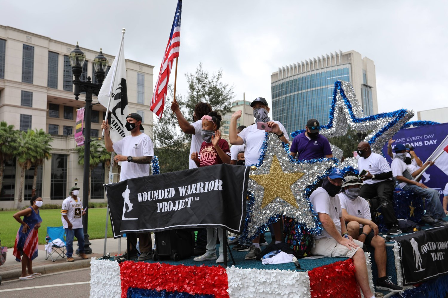 Wounded Warriors Project had a float in this year's Veterans Day parade in Jacksonville.
