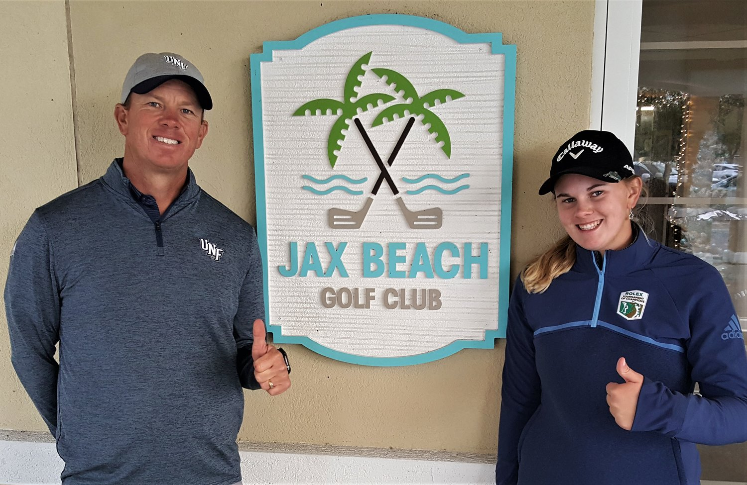 Scott Schroeder and daughter Kaitlyn won the Family Division at the JAGA Family Championship.