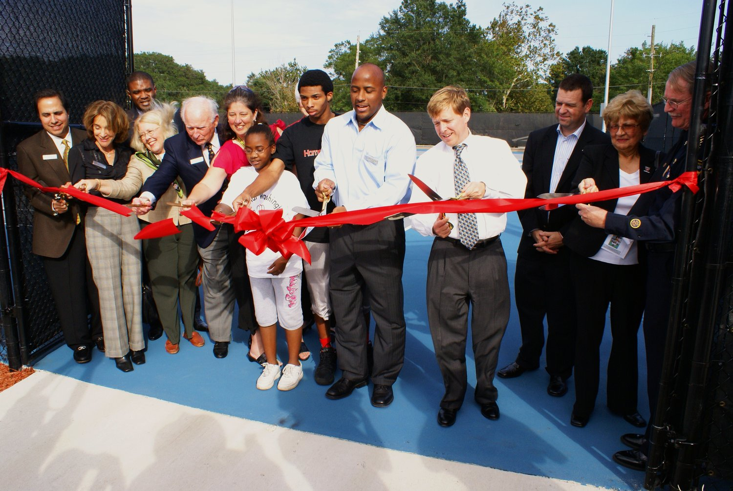 Grand opening of MWYF tennis courts in 2007.