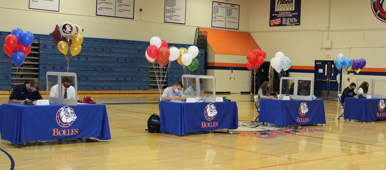 Bolles athletes commit to various universities in several sports.