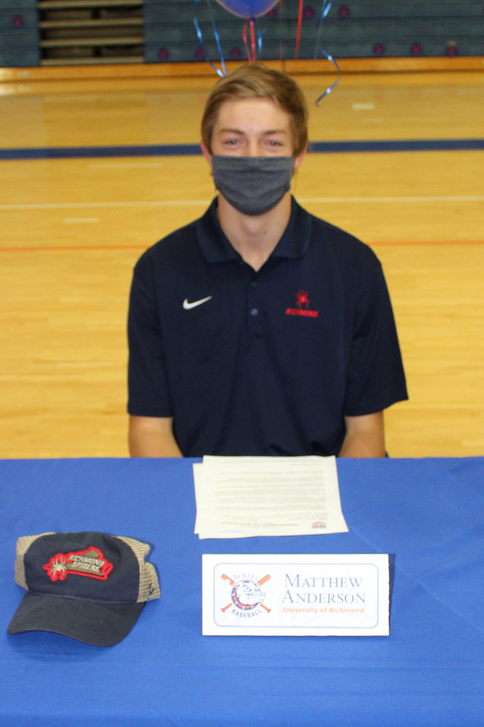 Baseball player Matthew Anderson has committed to the University of Richmond